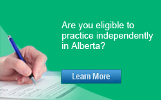 Are you eligible to practice independently in Alberta?