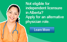 Not eligible for licensure in Alberta? Apply for an alternative physician role.